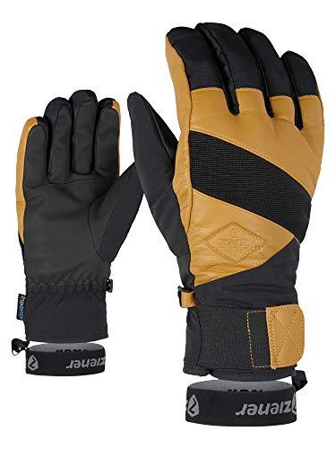 Ziener Erwachsene GIX AS(R) AW Glove Alpine Ski-Handschuhe/Wintersport, Wasserdicht, Atmungsaktiv, Black hb.tan, 8,5