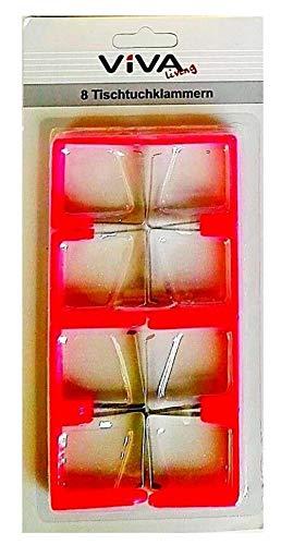 Une Viva Living 8 Tischtuchklammern Set (Rot)