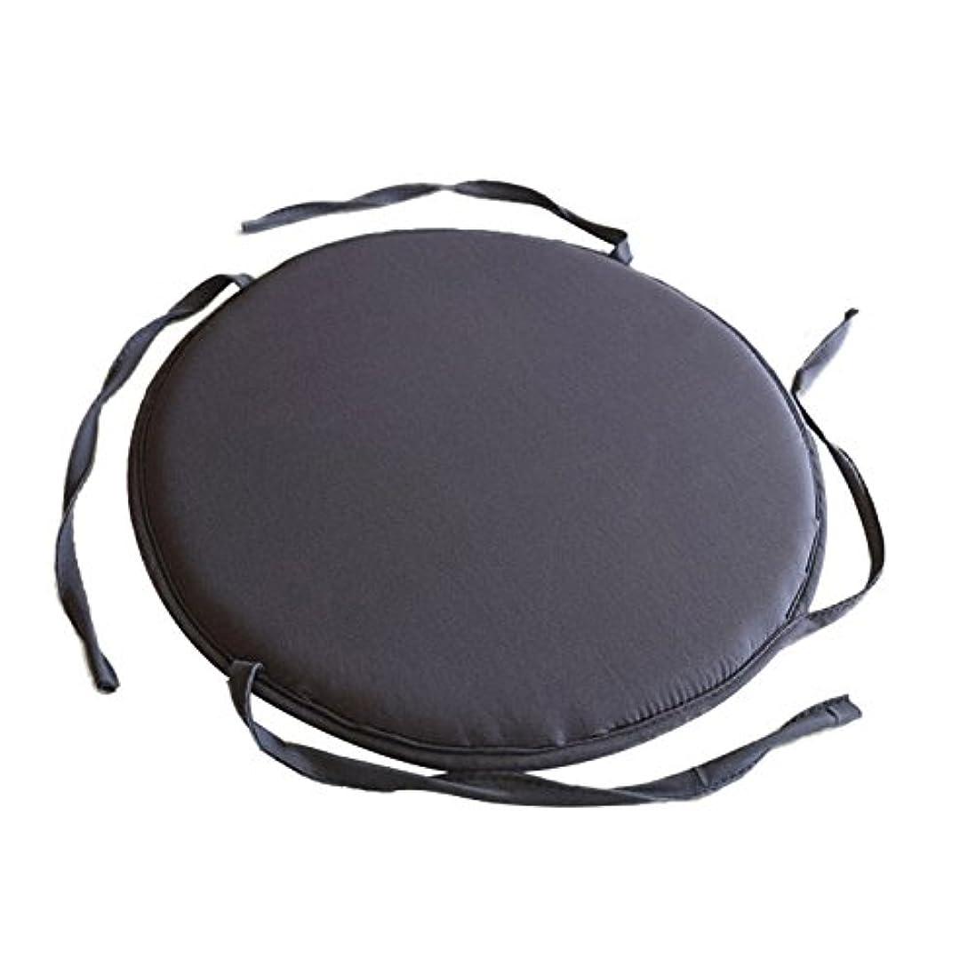 代わりにを立てるスラッシュ意味のある超通気 涼しい 通気性 洗える 座布団 低反発 クッション 丸型クッション オフィス用クッション35*35cm,ダークグレー
