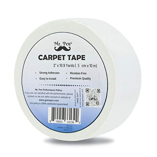 Mr. Pen- Double Sided Carpet Tape, 2 inch, Carpet Tape, Rug Gripper, Rug Tape, Carpet Tape for Wood Floors, Carpet Tape Double Sided, Rug Slip Stopper, Rug Anti Slip, Carpet Adhesive, Rug Holder