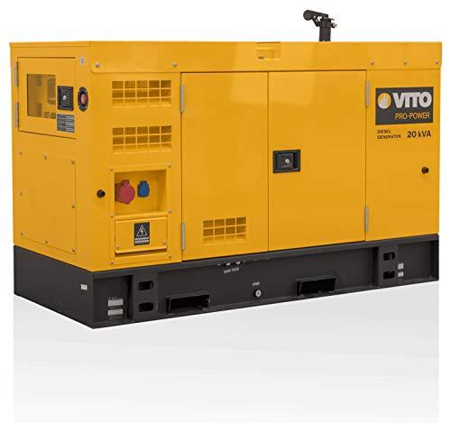 VITO Professional Silent 20kVA / 16 KW SUPER LEISE Diesel Stromerzeuger 400V AC 50Hz / 230V AC 50Hz Notstromaggregat Generator