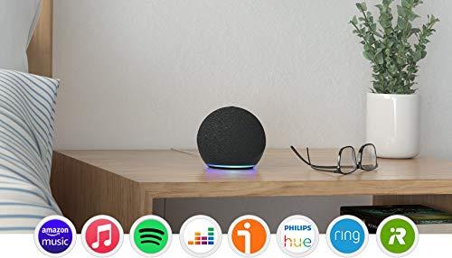Nuevo Echo Dot (4.ª generación), Antracita + Amazon Smart Plug (enchufe inteligente WiFi), compatible con Alexa