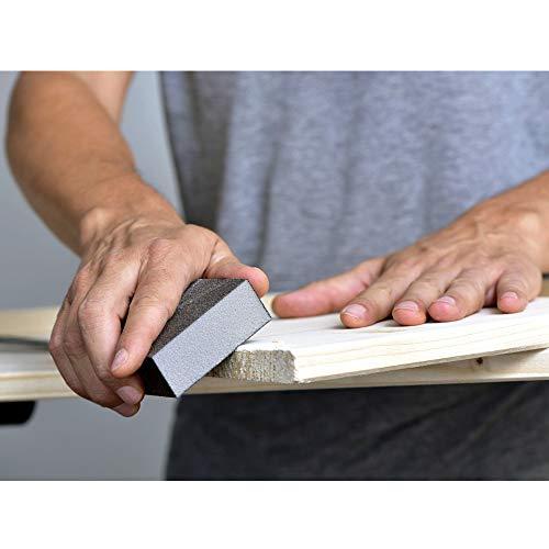 WELLGO 6 Pack Sanding Sponges,Coarse & Fine Sanding Blocks in 60/80/100/120/180/220 Grit Assortment- Great for Pot Brush Pan Brush Sponge Brush Glasses Sanding Wood Sanding Metal Sanding
