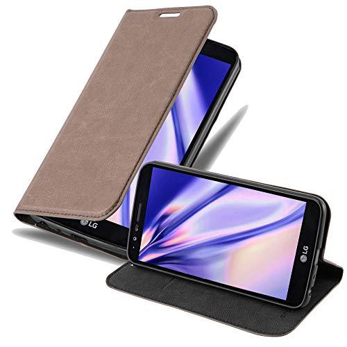 Preisvergleich Produktbild Cadorabo Hülle für LG Stylus 3 - Hülle in Kaffee BRAUN Handyhülle mit Magnetverschluss,  Standfunktion und Kartenfach - Case Cover Schutzhülle Etui Tasche Book Klapp Style