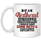 Yilooom Taza de café con idea de taza de té – 445 ml, If A Redhead Was Meant To Be Controlled