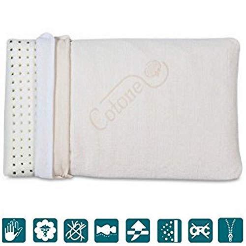 Coussin mousse visco-élastique pour enfants haut 6 cm, hypoallergénique, oreiller pour berceau et...