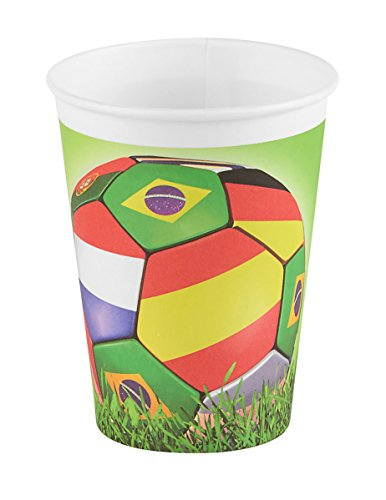 DYNASTRIB- Football Gobelets, 9006108, Multicolore, 25 CL
