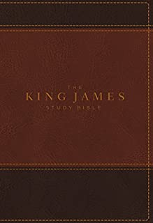 KJV, The King James Study Bible, Leathersoft, Brown, Red Letter, Full-Color Edition: Holy Bible, King James Version
