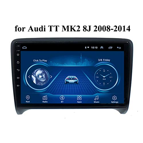 HP CAMP Android 9.1 8 Core Navigationssystem für Auto für Audi TT MK2 8J 2006-2014, Auto GPS-Navigation Eingebaute Rückfahrkamera/CarPlay, unterstützt Bluetooth 5.0 / SWC,4g WiFi 4g+64g