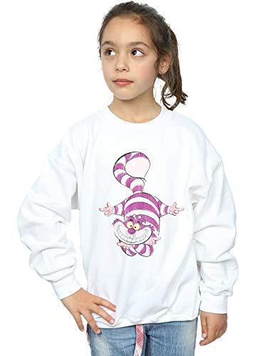 Disney Girls Alice in Wonderland Cheshire Cat Upside Down Sweatshirt White 12-13 Years