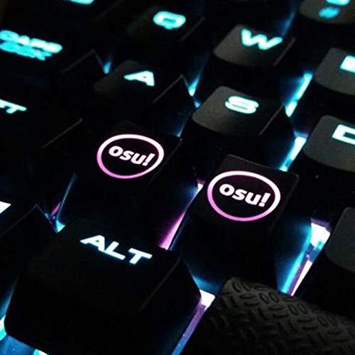 HFSECURITY OSU Tastenkappen mit Hintergrundbeleuchtung, für Cherry Tastatur, mechanische Tastatur, Hintergrundbeleuchtung, 2 Stück