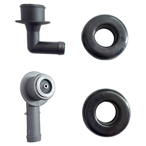 PCV CCV Vent Valve Elbow and Grommet Set Fits for Jeep Grand Cherokee 4.0L Engine 2000-2004 Replace 53013360AA 53030497 2946079