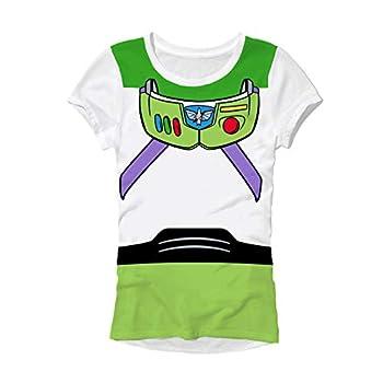 Toy Story Buzz Lightyear Costume Juniors T-Shirt  X-Large  White