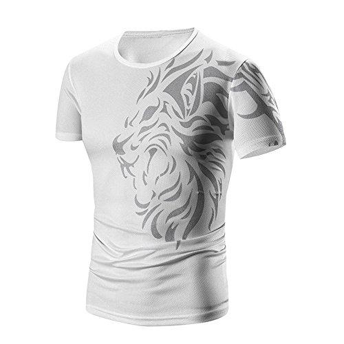 Find Discount EOWEO Men's Short T-shirt Men Summer Fashion Printing Men's Short-sleeved T-shirt ...