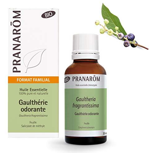 Pranarôm - Huile Essentielle Gaulthérie Odorante Feuille Bio Eco - Format Familial - 30 ml