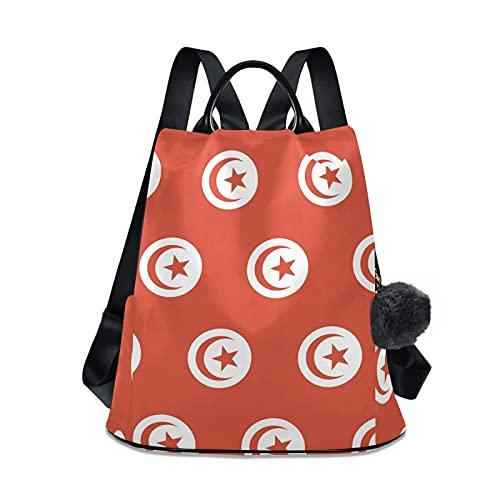 Mochila de viaje con la bandera de Túnez, mochila casual para la escuela, para mujeres y niñas