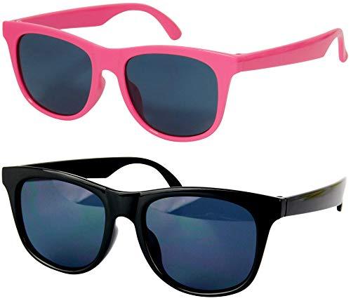 Kd3006 Sonnenbrille für Babys und Kleinkinder, Alter 0-36 Monate, Retro-80er-Jahre, 0-2 Jahre, Weiá (White-blue Mirror), X-Small