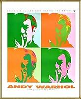 ポスター アンディ ウォーホル セルフポートレート 額装品 アルミ製ハイグレードフレーム(ゴールド)