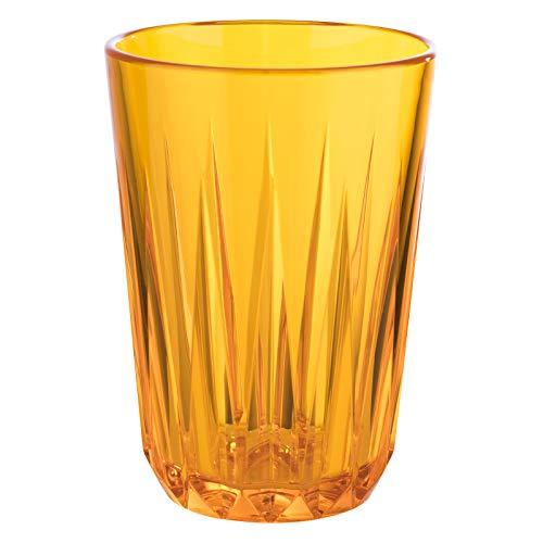 Buddy´s Bar - Juego de 6 vasos de plástico Tritan de alta calidad de 0,3 litros, sin BPA, aspecto de cristal, irrompibles, reutilizables y aptos para lavavajillas, 300 ml, color naranja.