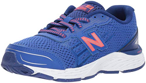New Balance Kid's 680 V5 Running Shoe, Steel/Pink Glo, 10.5...