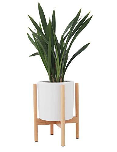 JYCRA Soporte para Plantas, soporte para macetas de flores de madera de mediados de siglo, estante para estante en maceta, para el hogar, sala de estar, jardín, balcón, decoración de la esquina