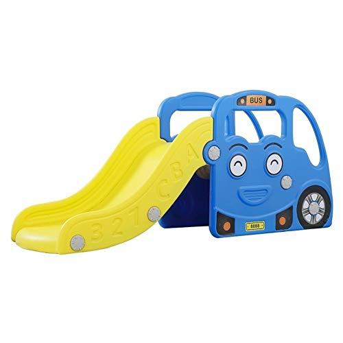 TYYYX Tobogán Pequeño Parque Infantil para Niños Material Plástico Respetuoso con El Medio Ambiente Pedal Totalmente Cerrado E Integrado,Blue-140 * 42 * 60cm