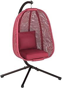 Flower House FHEC100-RD Egg Chair, Red