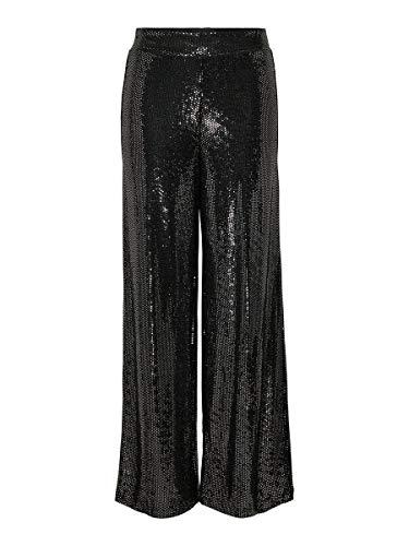 ONLY Pantalones de mujer lentejuelas negro 40W x 32L