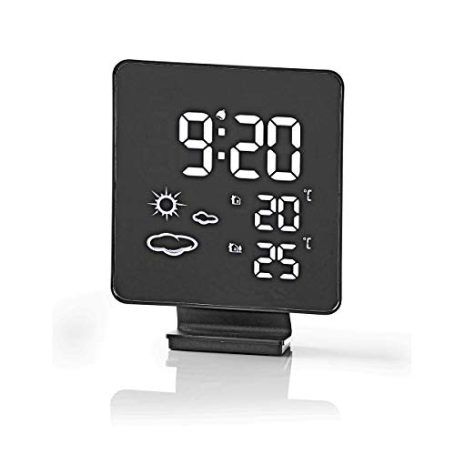 TronicXL Tisch/Wand Design Wetterstation Funk mit Außensensor + Uhr + Wecker + Hygrometer