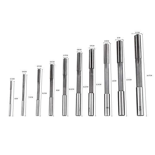 Yosoo HSS Reibahlen H8 Zylinderschaft Maschine Stahl High Speed 3/4/5/6/7/8/9/10/11/12mm 4 Flöten Werkzeuge Fräser Handwerker