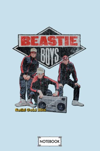Vintage Beastie Boys Solid Gold Hits Notebook: Journal, Lined Notebook, 120 Blank Pages, Journal, 6x9 Inches, Matte Finish Cover