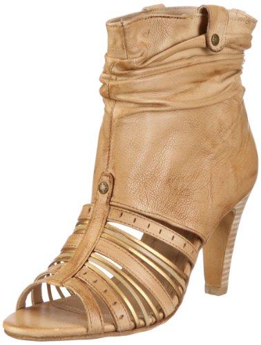 Mexx Damen Irene Peetoe Strao Bootie Fashion-Sandalen, Beige/Sand, 36 EU