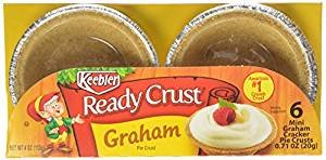 Keebler Ready Crust Mini Graham Cracker Pie Crusts 0.71 Oz. Pk Of 3.