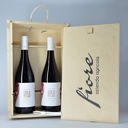 Fiore Di Bacco - Rosso | Vino Rosso IGP Puglia | Primitivo, Merlot, Montepulciano (2 Bottiglie con Box)