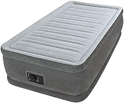 Intex 64412 Materasso Comfort Plush Elevated Dura Beam Tecnologia Fiber Tech Singolo 715, Grigio, 99 x 191 x 46cm