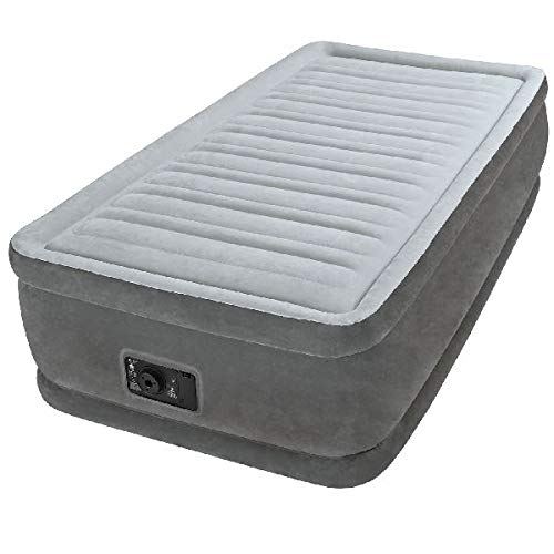 Intex Airbed Materasso Gonfiabile Comfort Plush Elevated, Tecnologia Fiber Tech, Singolo, 99 x 191 x 46 cm
