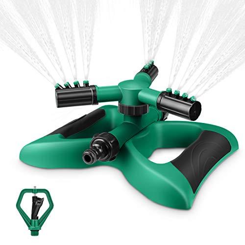 Magicfun Lawn Sprinkler, Automatic Water Sprinkle 360°Degree Rotating...