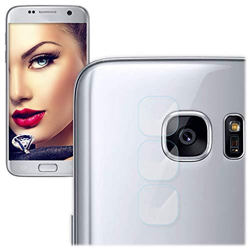 mtb more energy® 3X Kamera-Schutz-Glas für Samsung Galaxy S7 Edge (G935) - Schutz-Folie Glasfolie Rückseiten-Cam Linse Back