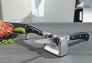 Wüsthof Messerschärfer für alle Messer (4348), 2 Stufen, Keramik + Diamant Schleifkörper zum Messerschärfen wie die Profis