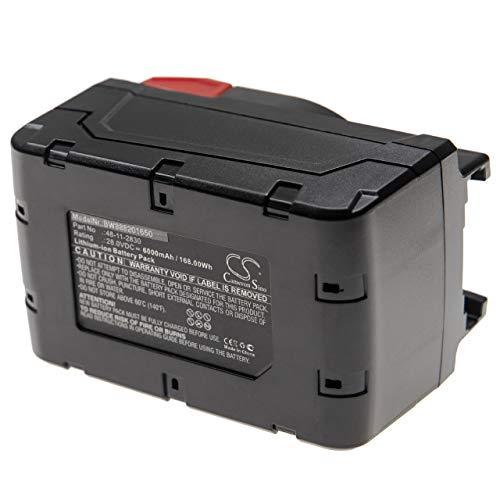 vhbw Batería reemplaza Würth 0700956730 para herramientas eléctricas (6000mAh Li-Ion 28V)