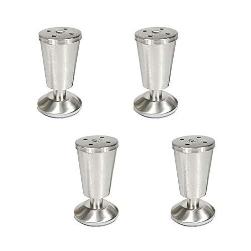 HXLQ kastpoten van roestvrij staal, poten sofa, verstelbare meubelpoten, meubelpoten met salontafel type wijnglas, afneembare bedpoten – 4 stuks