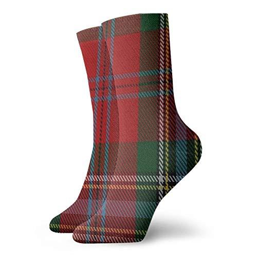 Maclean Of Duart Dress #3 Clanfamily Tartan Funny Casual Sports Work Socks Classic Ankle Socks 11.8inch Men Women Gift