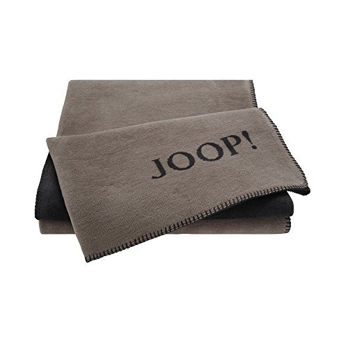 Joop! Plaid Uni-Doubleface | Taupe-Anthrazit - 150 x 200 cm