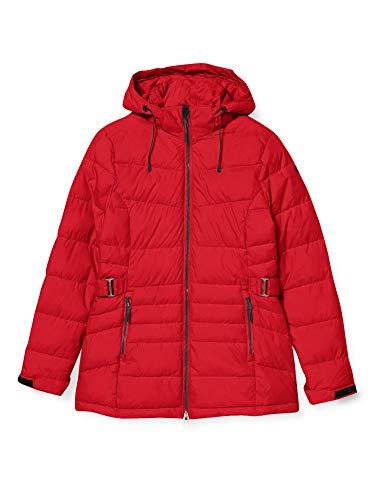 Killtec Veste matelassée Drinna pour femme - Aspect duvet - Veste d'hiver avec capuche amovible - Colonne d'eau de 10 000 mm. XL rouge
