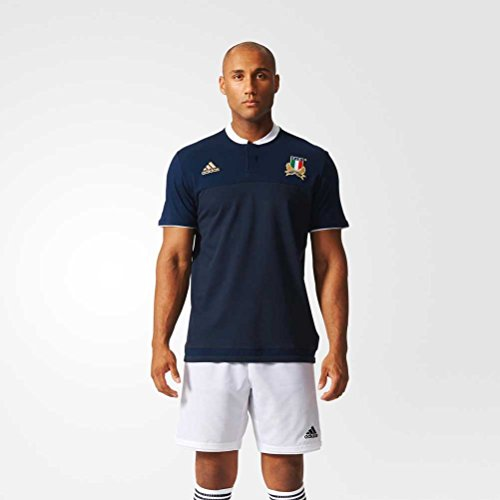adidas Fir Anth Polo Herren T-Shirt, Marineblau/Weiß/Gold M Marineblau/weiß/vergoldet