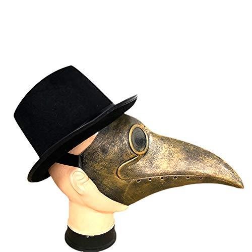 MINI Boutique Mscara de doctor de la plaga disfraz retro steampunk nariz larga pico de pjaro para Halloween Cosplay Party Props