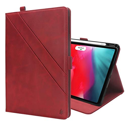 un known Horizontal Flip Double Holder Leather Case for iPad Pro 12.9 inch (2018), with Card Slots & Photo Frame & Pen Slot Accessory Maintenance (Color : Red)