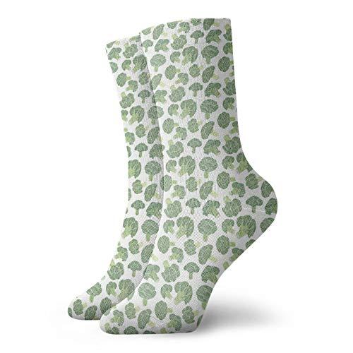 Calcetines de compresión para mujer y hombre, patrón de alimentos con calcetines de hendidura ideales para circulación, médico, correr