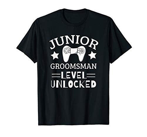 Cute Junior Groomsman Gaming Wedding Party Jr Boys Gift T-Shirt