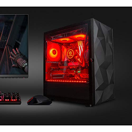 GameMachines Crystal Black Edition - Micro ATX Gaming PC - Intel® Core™ i7 9700K - NVIDIA GeForce RTX 2070 Super - Wasserkühlung -500GB SSD - 2 TB Festplatte - 16GB DDR4 - WLAN